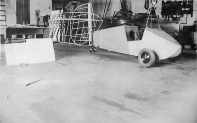 Flying Flea under construction at W L Notman's workshop, Thames Street