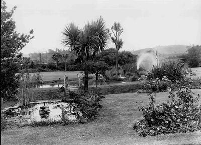 A view of the front garden of Waitaki Boys' High Schoo