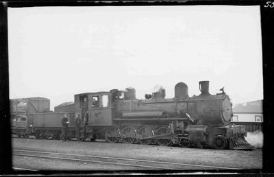 Train Engine BA499 at Oamaru 6 May 1937