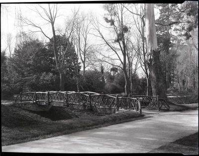 Bridge in Oamaru Public Gardens