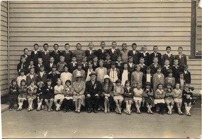 Pupils and teachers at the Diamond Jubilee Weston School.