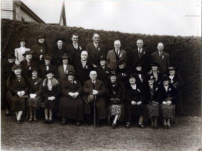 Ex-pupils of Weston School at a reunion.