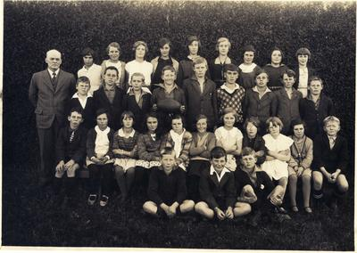 Weston School pupils October 1933