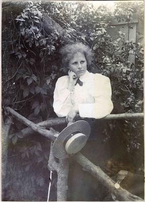 Woman in a garden; 2014/45.02.055