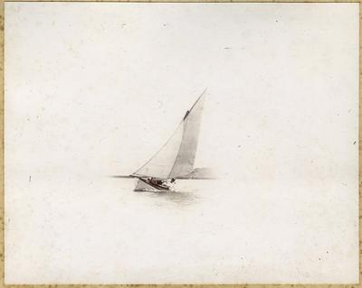 Man in a sail boat