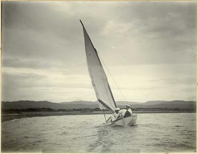 Men in a sail boat