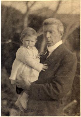 Man and baby, unidentified