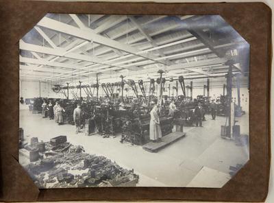 Workroom at woollen mills