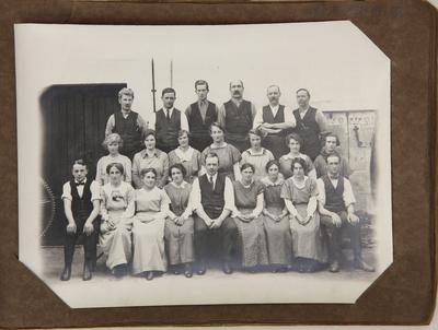 Staff at woollen mills
