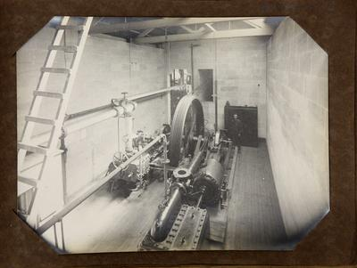 Machinery room at woollen mill