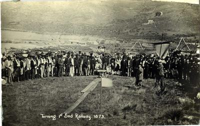 Turning 1st Sod Railway 1873
