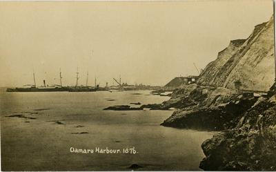 Oamaru Harbour 1876