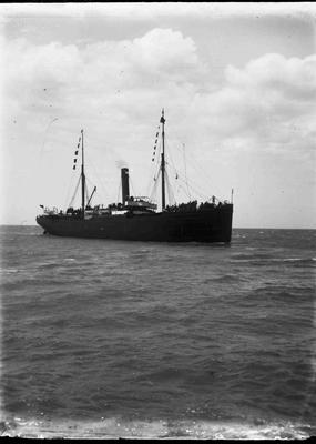 Unidentified Steamship at sea.