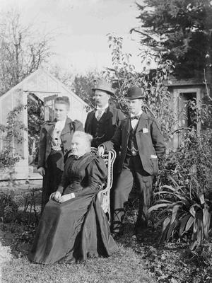Forrester family in garden