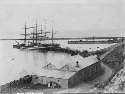 Ships at Sumpter Wharf. Oamaru Harbour