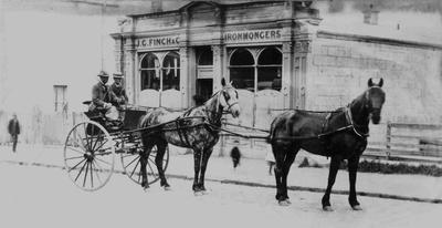 Fred Newton and Ivan Borton. J G Finch & Co. Ironmongers