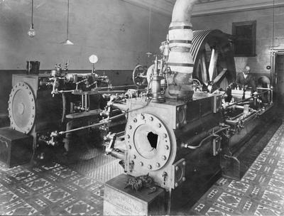 Engine room, Oamaru Woollen Mills.