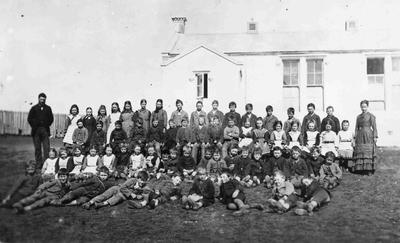 Unidentified school and pupils.