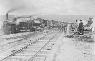Opening of the Oamaru to Waitaki railway; 2922P