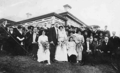Reeves wedding. Charlotte (Charlot?) Brown.