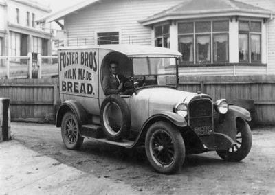 Vintage Foster Bros delivery van