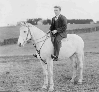 George Cunningham on horse