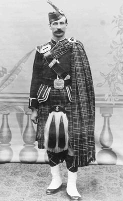 Bill Millar in Highland Regalia