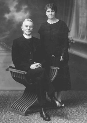 Rev J E and Ellen Adams