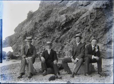 Unidentified men at Cape Wanbrow