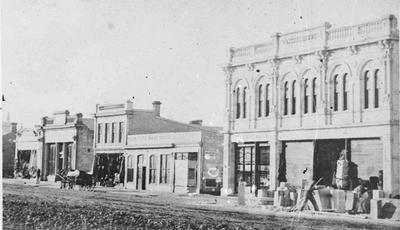 Construction at Waitaki House, c. 1876-77
