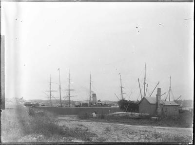 Oamaru Harbour - Sailing Ships near Sumpter Wharf