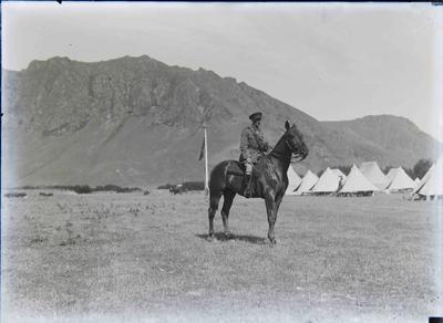 Unidentified soldier on horseback