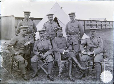 Military Officers, 3rd Battalion Otago Volunteers; ; 2237P