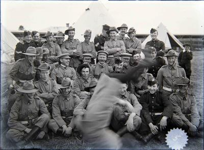 'A' company, Queen's Rifles. Military Camp, Oamaru Showgrounds