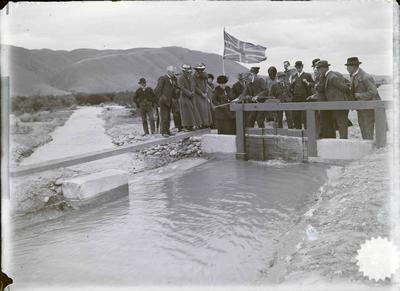 Water Race Opening, Waitaki River, 14 January 1915.