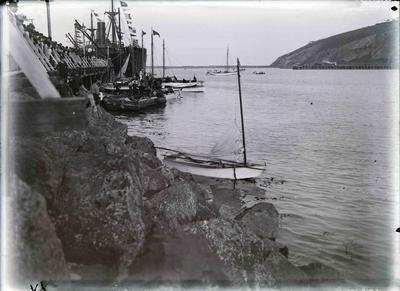 Oamaru Harbour boats