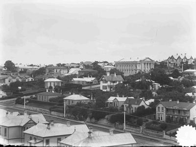 Wharfe Street, Oamaru view south west