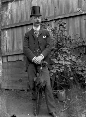 Unidentified male in top hat, c.1908