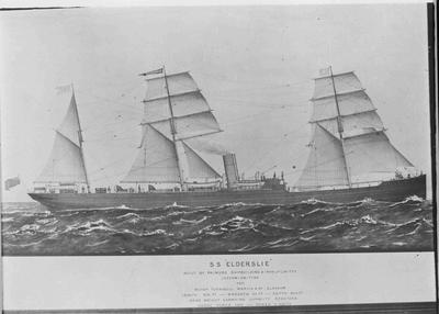 S S Elderslie. Arrived at Oamaru 25 August 1884.