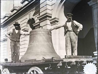 Men with Post Office bell. Forrester collection.