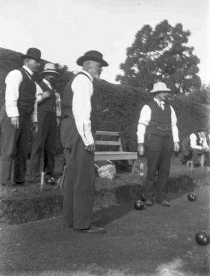 Unidentified men. Lawn Bowls