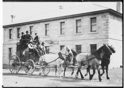 T A Munro's Coach leaving Kurow for Omarama