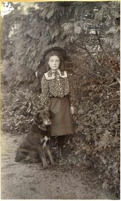 Unidentified girl with dog; 2014/45.01.006