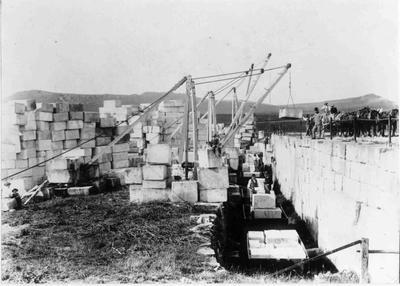 """Loading stone at """"One Tree Farm"""", Totara"""