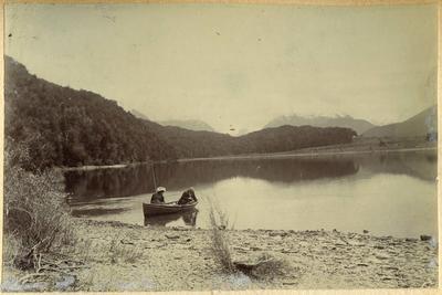 Man and woman fishing [?]