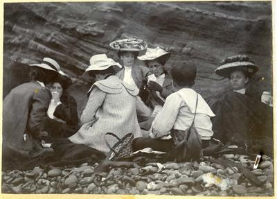 People at a picnic; 2014/45.01.044