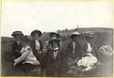 Unidentified women and boy