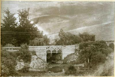 Bridge over creek, location unidentified
