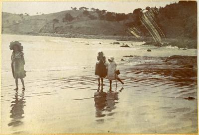 Girls at a beach