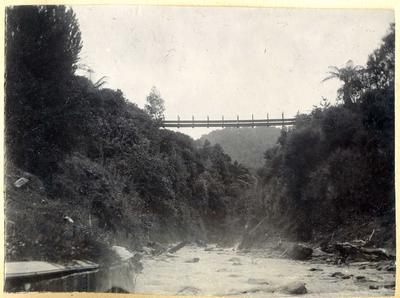 Suspension bridge above a river; 2014/45.01.098
